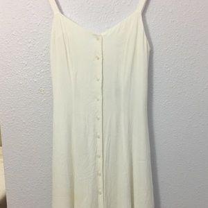 Forever 21 Long/Maxi White Open Back Dress
